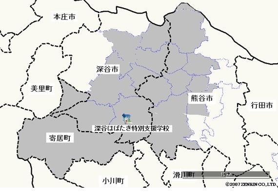 深谷市の一部、熊谷市の一部、寄居町です。